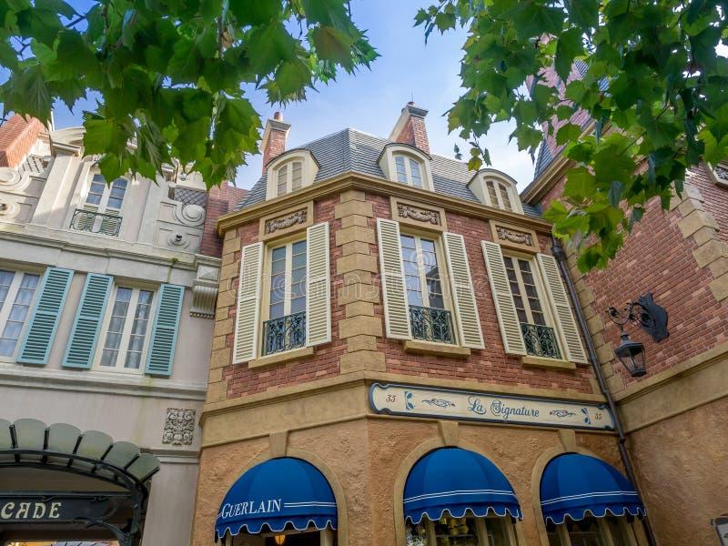 Padiglione della Francia, vetrina del mondo, Epcot immagine stock