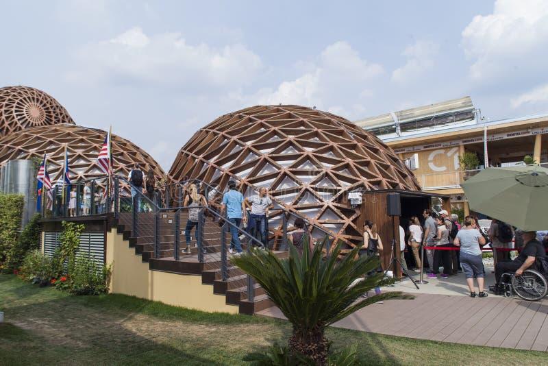 Padiglione della Malesia all'Expo 2015 a Milano, Italia immagine stock libera da diritti