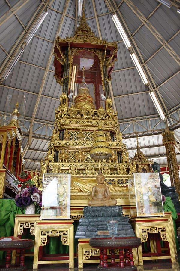 Padiglione della reliquia di Buddha al tempio di samheannaree del wat, Bangkok Thaialnd immagini stock libere da diritti