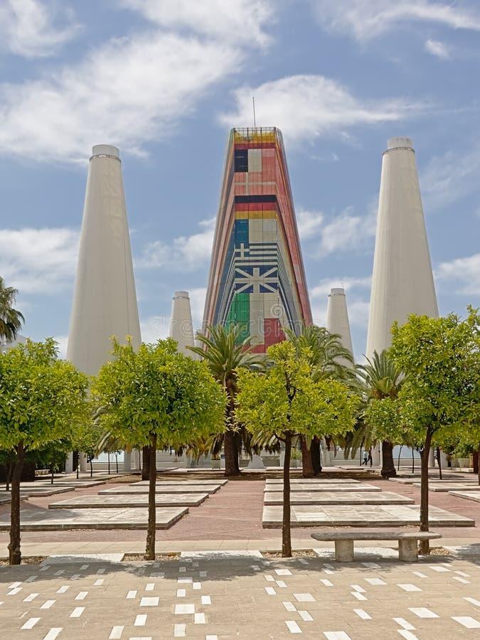"""Padiglione di europa dell'esposizione universale dell'Expo """"92 di Siviglia fotografia stock"""