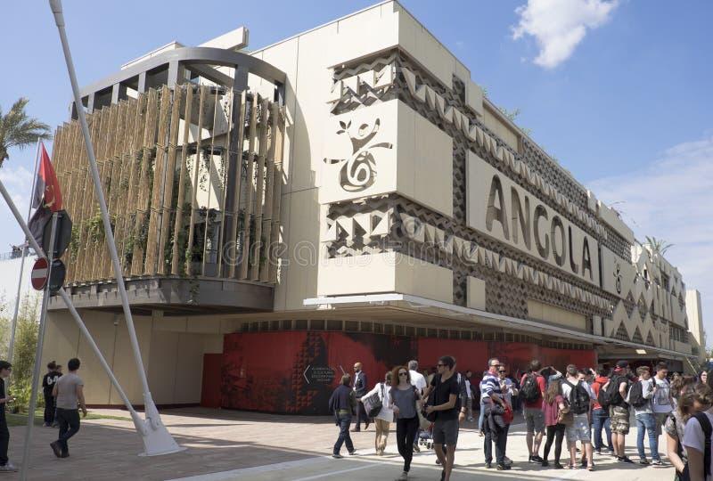 Padiglione 2015 di Milano Italia Angola dell'Expo fotografia stock