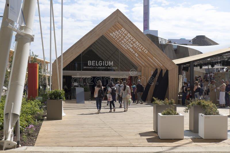 Padiglione 2015 di Milano Italia Belgio dell'Expo fotografia stock libera da diritti