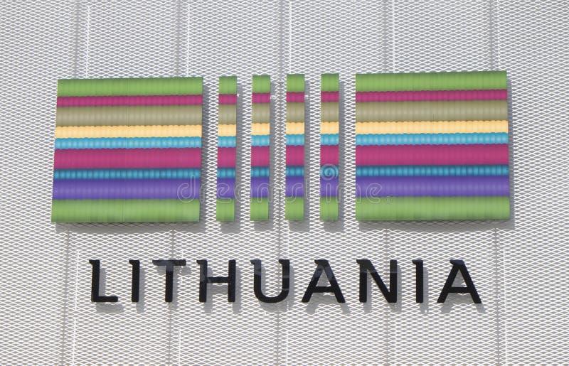 Padiglione 2015 di Milano Italia Lituania dell'Expo illustrazione di stock