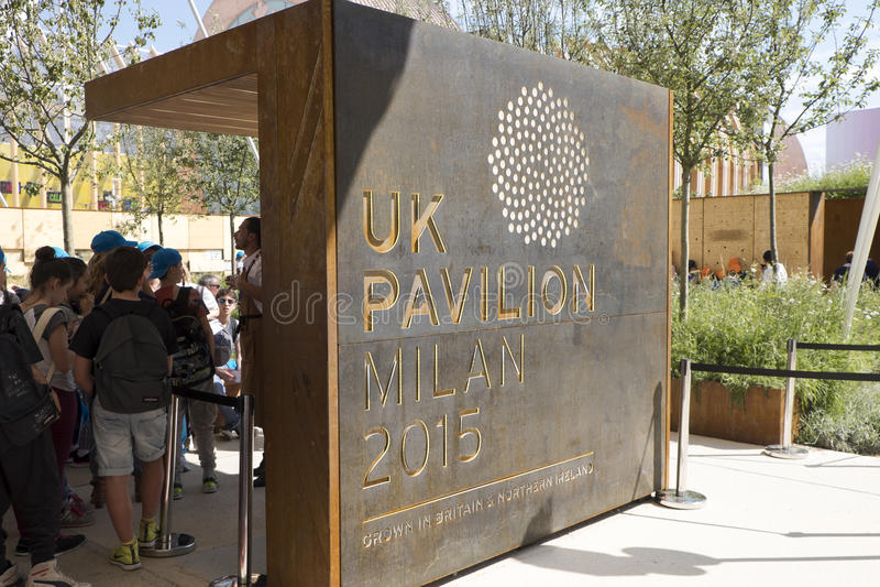 Padiglione 2015 di Milano Italia Regno Unito dell'Expo immagini stock libere da diritti
