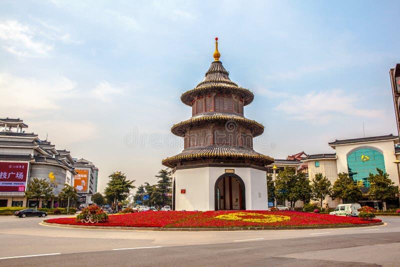 Padiglione di punto di riferimento-Wenchang della città di Yangzhou fotografia stock libera da diritti