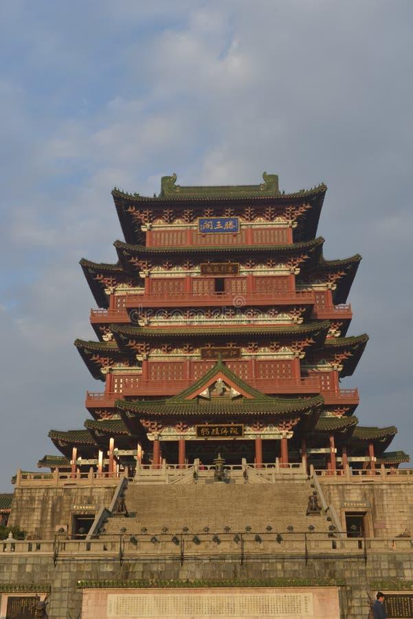 Padiglione di Tengwang a Nan-Chang, provincia di Jiangxi, Cina fotografia stock