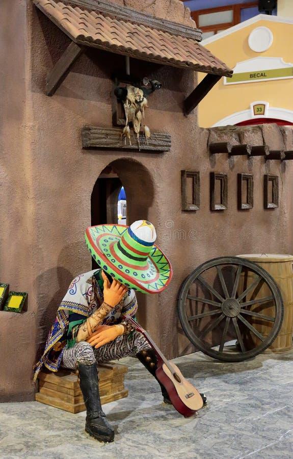 Padiglione Messico della decorazione nel Glob del centro di spettacolo del parco immagini stock