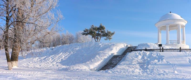 Padiglione in Russia. Inverno immagini stock libere da diritti