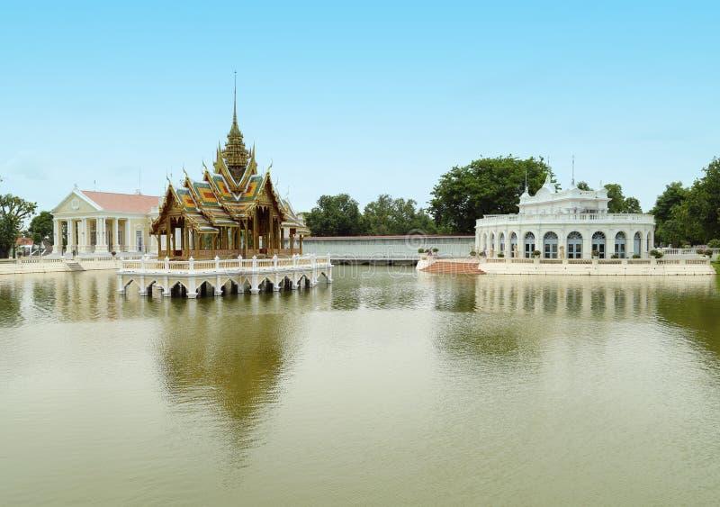Padiglione tailandese di stile, Colpo-PA-in palazzo, la Tailandia fotografia stock libera da diritti