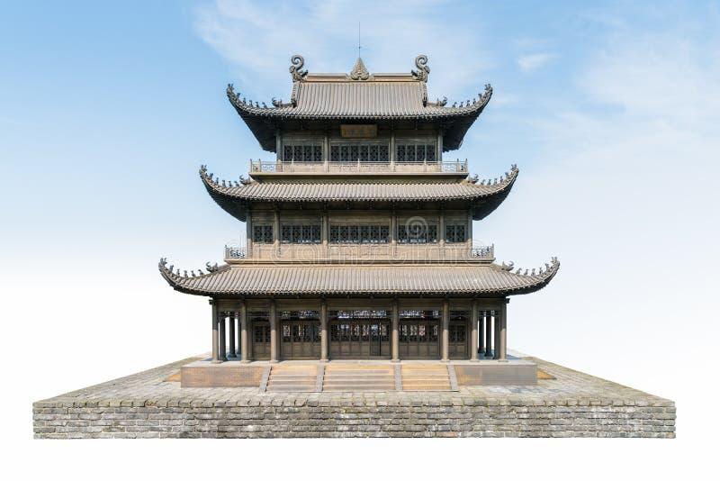 Padiglione tradizionale cinese isolato immagini stock