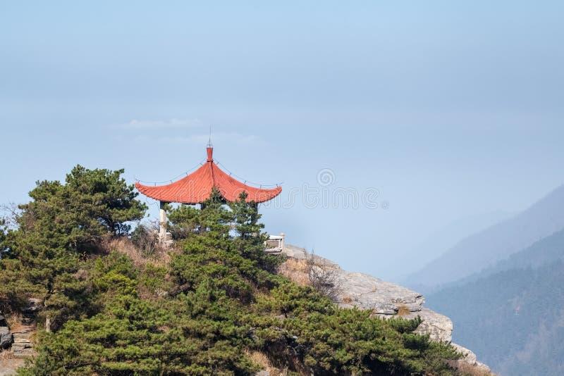 Padiglione tradizionale sul Monte Lushan fotografie stock libere da diritti