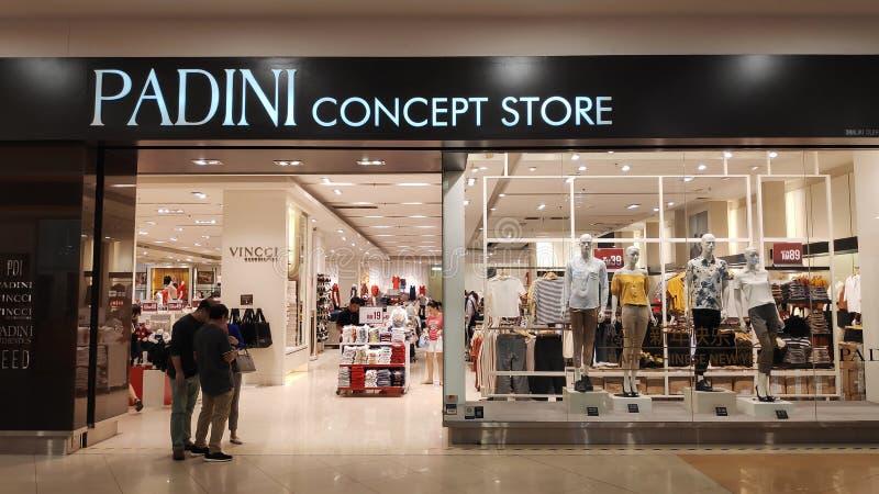 Padini Concept Store in Johor Bahru, Malaysia. JOHOR BAHRU, MALAYSIA- 14 FEB, 2019: Padini Concept Store in Johor Bahru, Malaysia royalty free stock photo