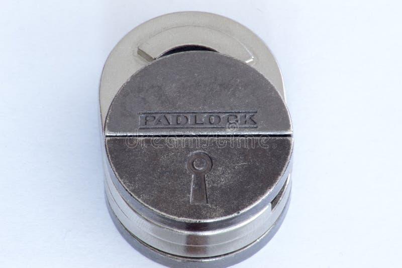 Padlock головоломки литого железа стоковая фотография