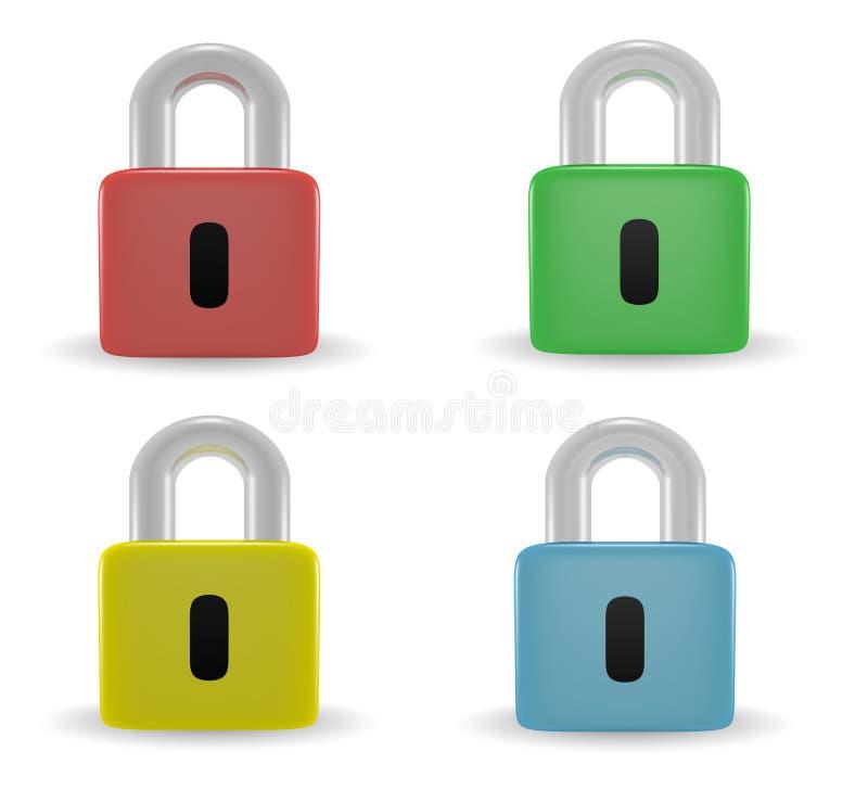 padlock иконы иллюстрация вектора