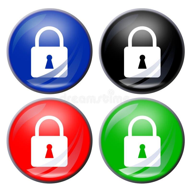 padlock кнопки бесплатная иллюстрация