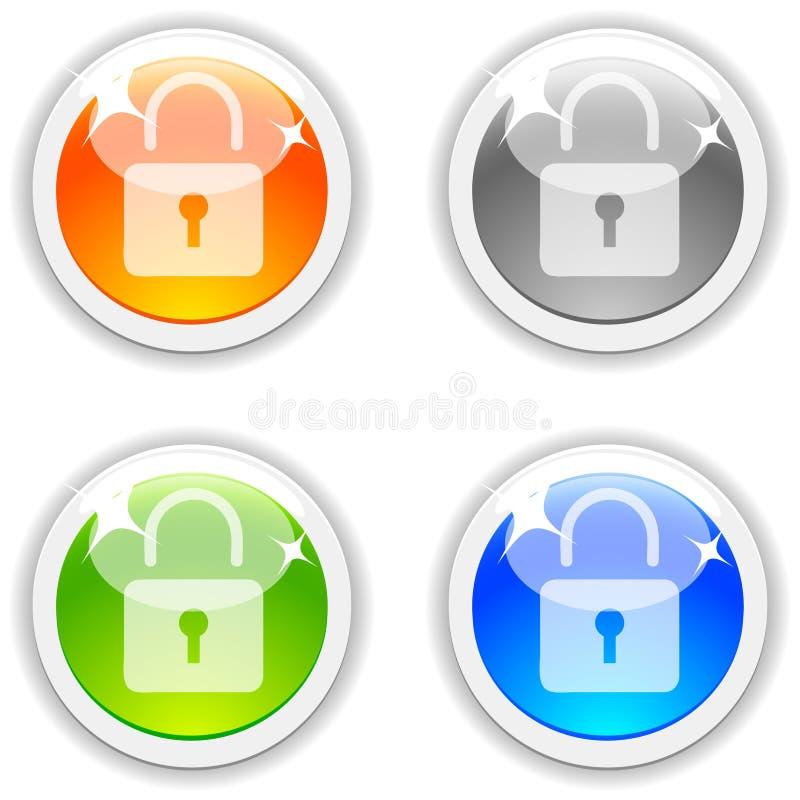 padlock кнопок бесплатная иллюстрация