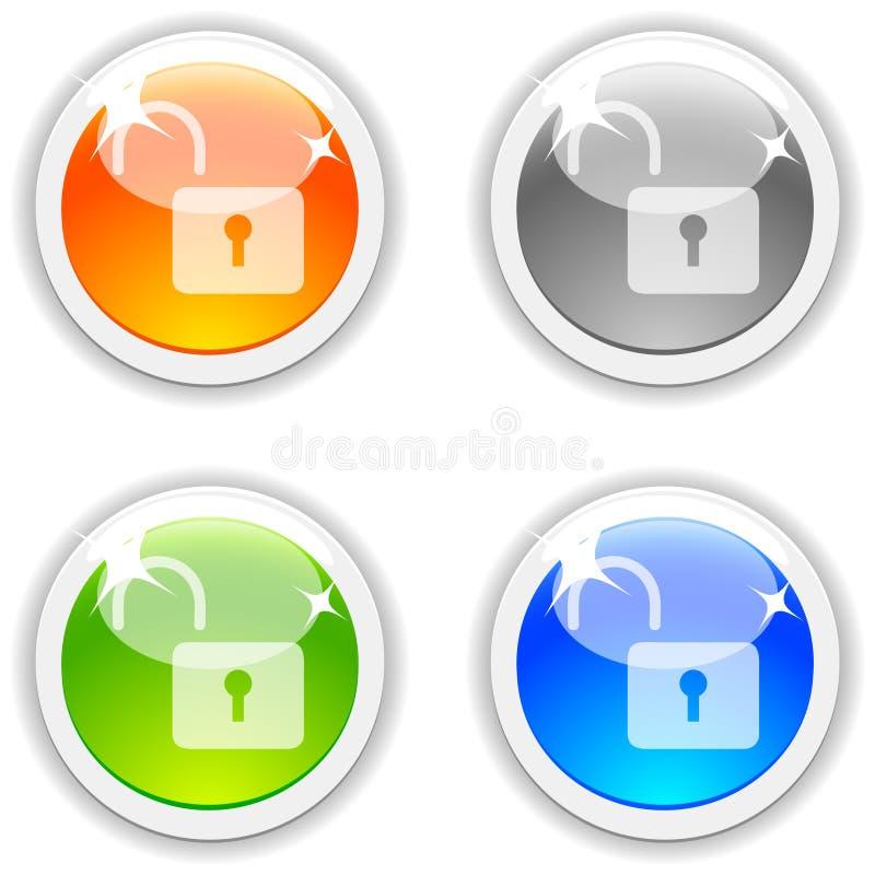 padlock кнопок иллюстрация штока