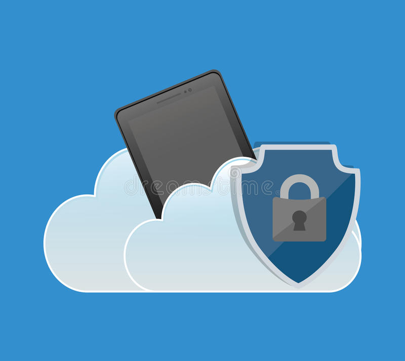 padlock облака мобильного телефона безопасностью интернета бесплатная иллюстрация