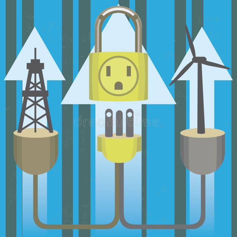Padlock энергобезопасности бесплатная иллюстрация