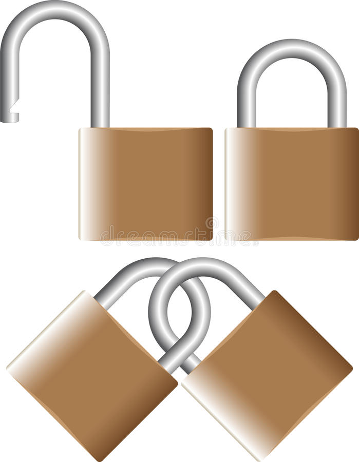Download Padlock stock vector. Image of locks, hold, gold, firm - 21456445