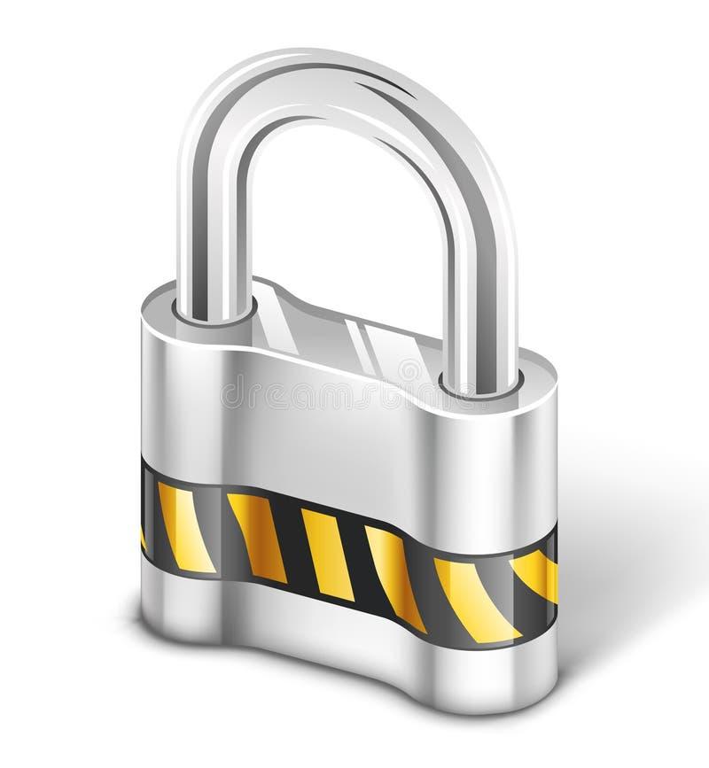 Padlock. Vector illustration of padlock on white background stock illustration