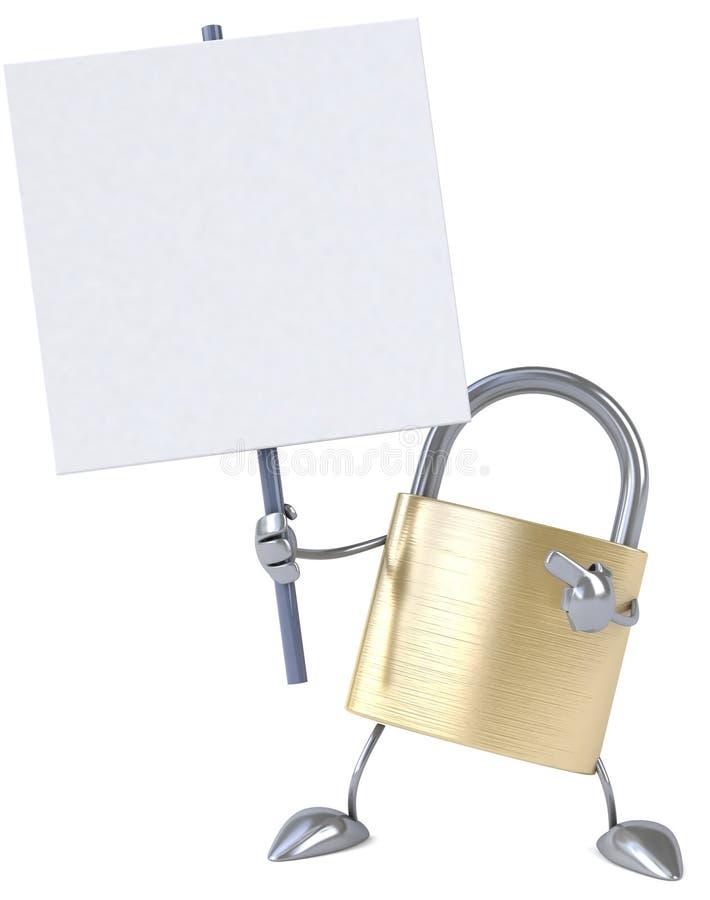 padlock иллюстрация вектора
