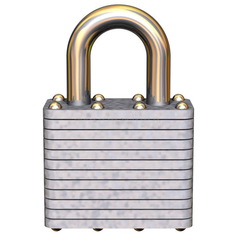 Padlock. Perfect padlock isolated on white vector illustration