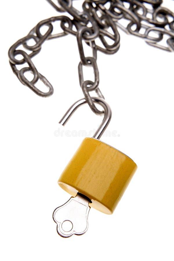 Free Padlock And Chain Stock Image - 3443091