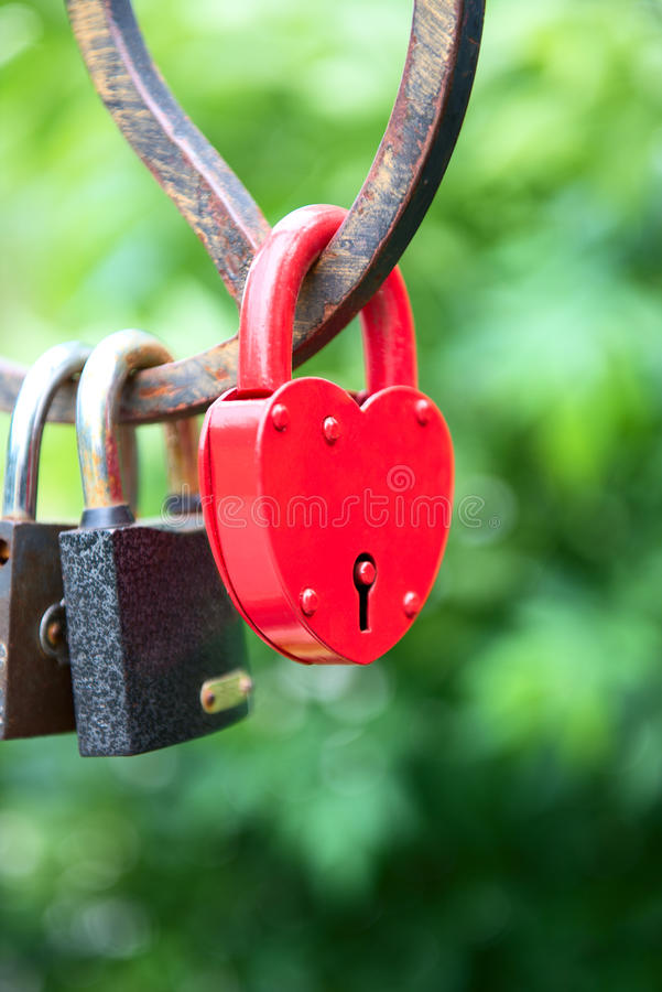 Download Padlock As A Heart On The Bridge Stock Photo - Image: 24862450