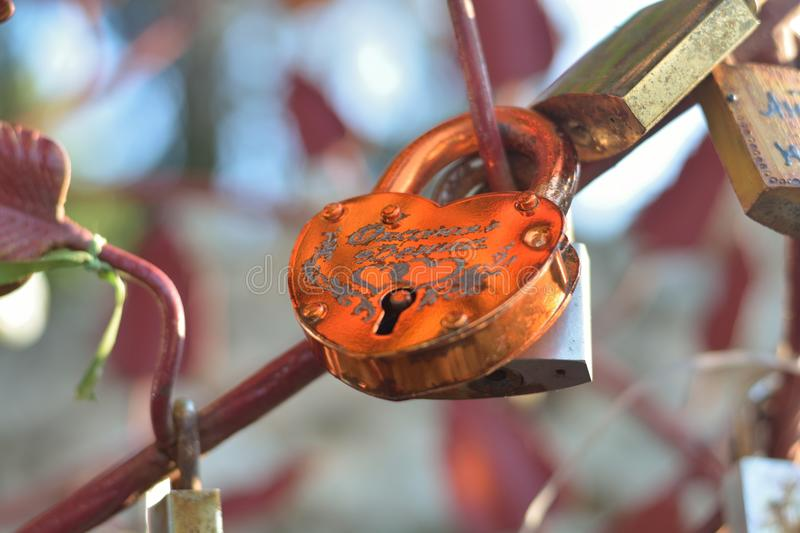 The padlock. royalty free stock images