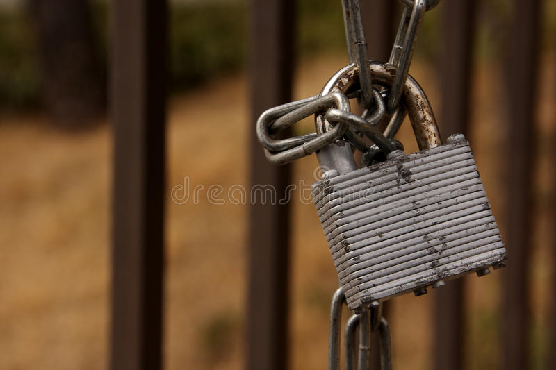Download Padlock and chain stock photo. Image of entrance, rust - 40120736