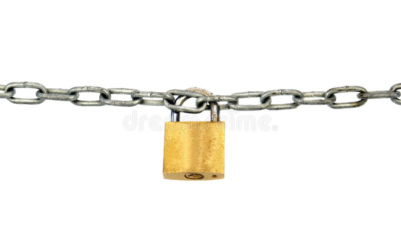 Download Padlock and chain stock photo. Image of isolated, safety - 29973912