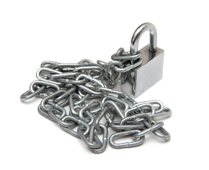 Padlock and chain stock image