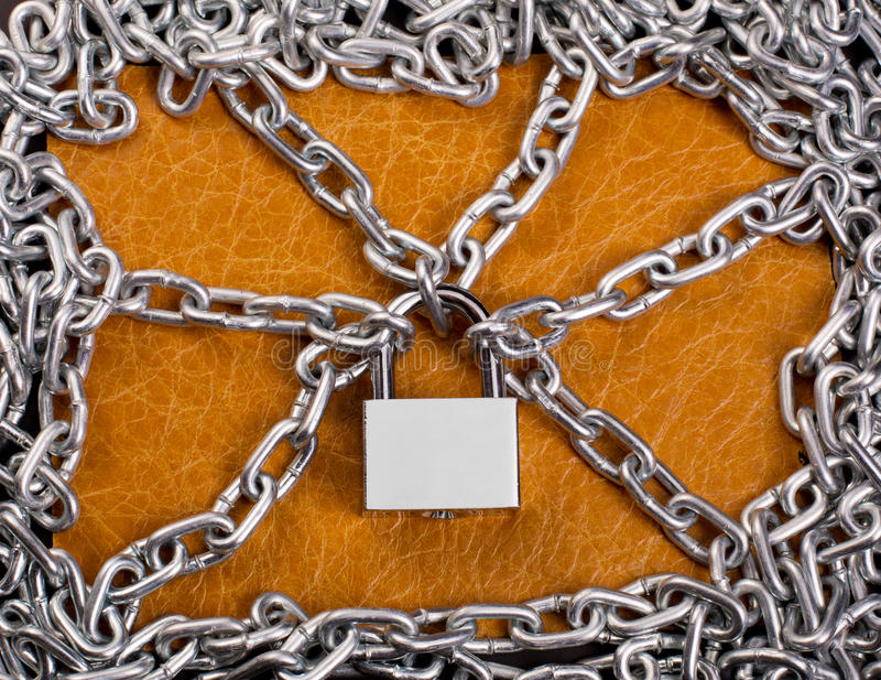 Download Padlock and chains stock photo. Image of gray, up, link - 26655040