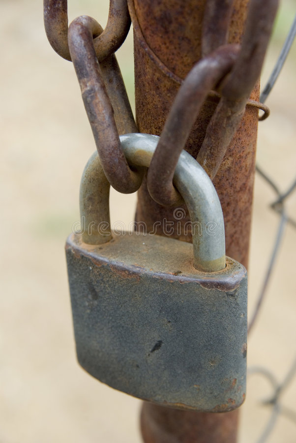 Download Padlock and chains stock photo. Image of latched, rusty - 6807902