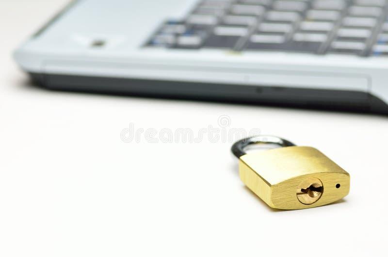 Download Padlock And Computer. Stock Photo - Image: 25091760
