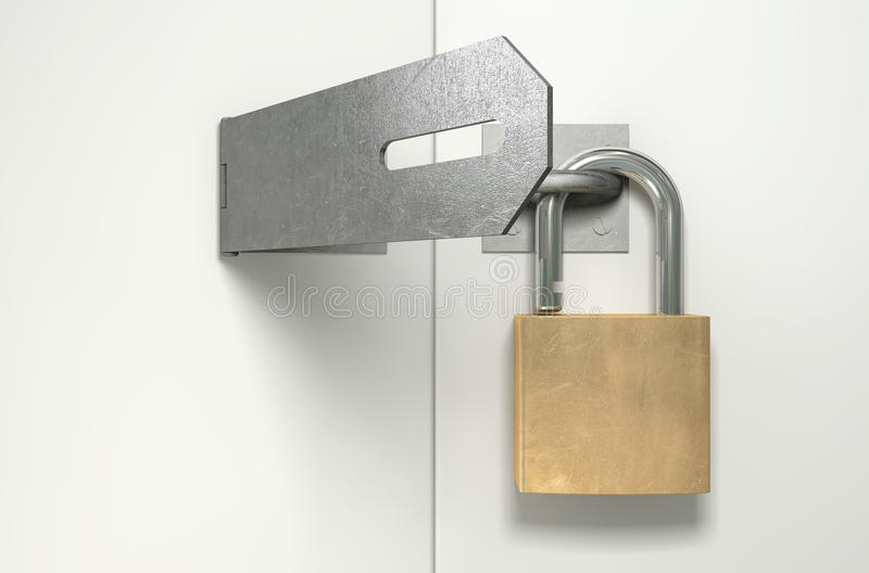 Download Padlock And Hasp Unlocked Front Stock Image - Image: 27181081