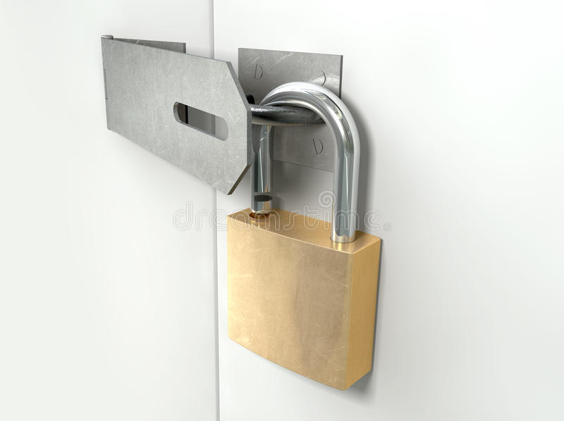 Download Padlock And Hasp Unlocked Perspective Stock Image - Image: 27181089