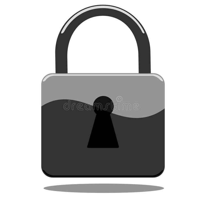 Padlock icon vector illustration