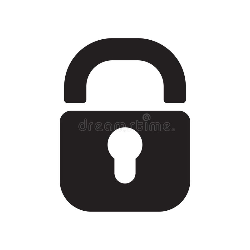 Free Padlock Icon Vector Sign And Symbol Isolated On White Background Royalty Free Stock Images - 133760419