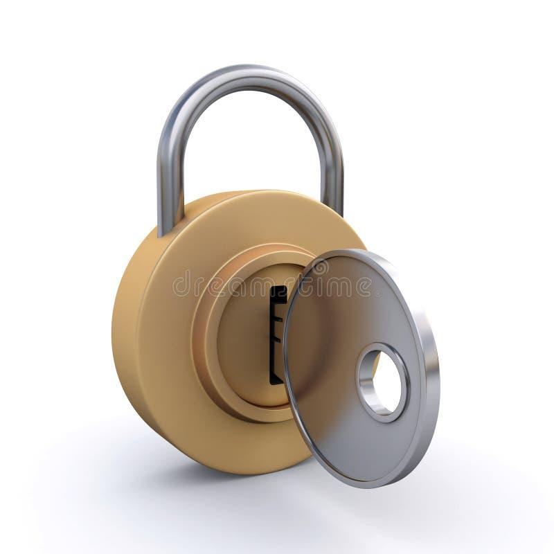 Download Padlock and key stock photo. Image of metal, unlock, safety - 25200142