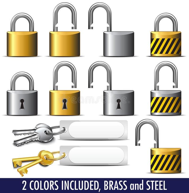 Padlock and Key lock vector illustration