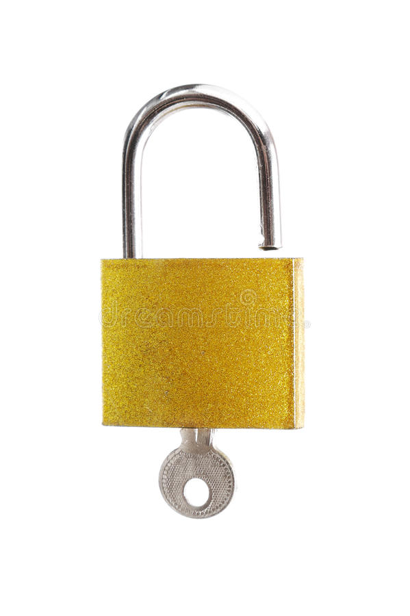 Download Padlock with key stock image. Image of strap, isolated - 33557761