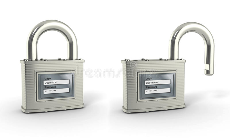 Download Padlock With Login And Password Stock Illustration - Image: 23772841