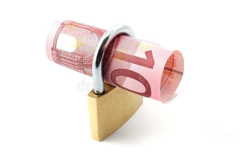 Padlock With Money Stock Image