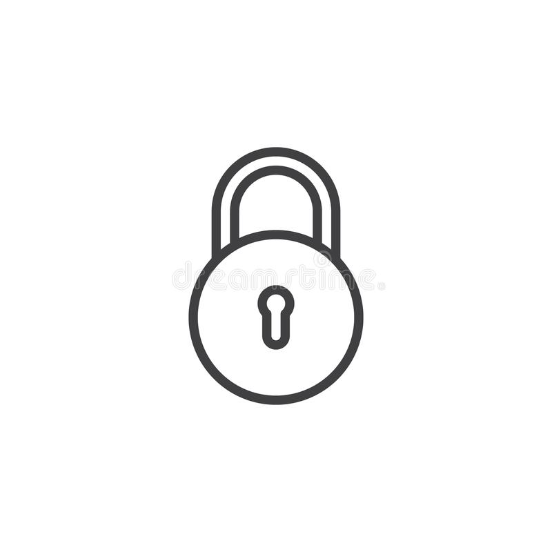 Free Padlock Outline Icon Stock Photography - 116311462