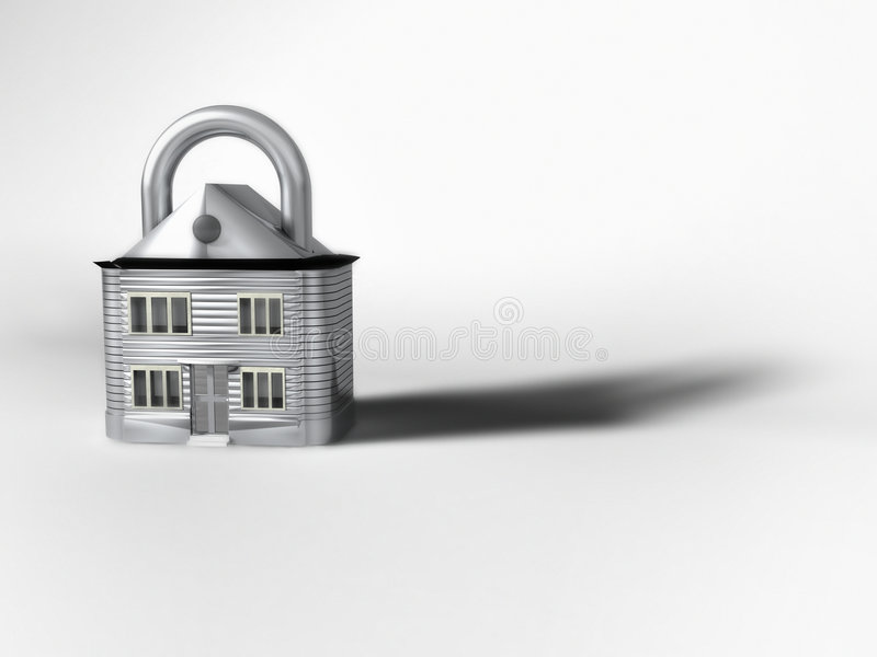 Padlock In The Shape Of A House stock image