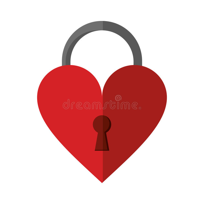 Padlock shaped heart loved. Vector illustration eps 10 royalty free illustration