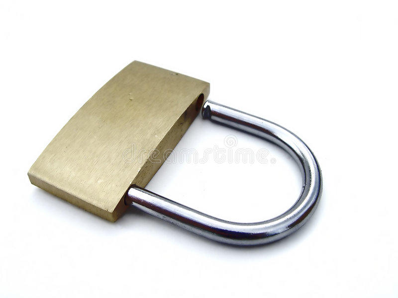 Download Padlock on white stock image. Image of objects, lock, safe - 116929