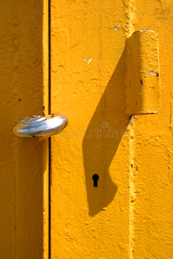 padlocked żółty obraz royalty free